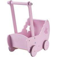 Kid's Concept - Poppenwagen met bedset roze #dollpram #dolls #pink #sinterklaas #kidsconcept #toys #littlethingz2