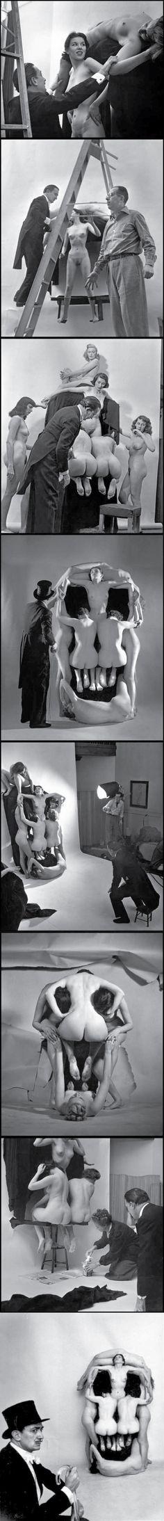 "IN VOLUPTAS MORS"" 1951 Salvador Dalí and Philippe Halsman."