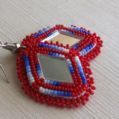 Native American applique beaded earrings by southwinddesign, $45.00