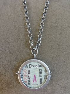 Vintage Disneyland A Ticket Collage Pendant with by TicketTrinkets, $60.00