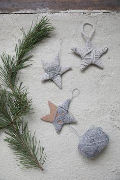 Christmas DIY from Trendenser. Scandinavian Christmas Ornaments, Prim Christmas, Christmas Ornaments To Make, Very Merry Christmas, Christmas Time, Christmas Crafts, Xmas, Minimalist Christmas, Crafty