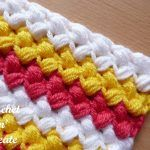 Free Crochet Tutorial Bean Stitch - fun textured design that is great for any project, it is thick and warm and can be used for hats, throws etc . Crochet Crafts, Easy Crochet, Crochet Hooks, Crochet Projects, Free Crochet, Knit Crochet, Crochet Robin, Crochet Stitches Free, Crochet Patterns