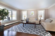 Transitional Living Room with ARTISTIC WEAVERS ? POLLACK ? STELLA ? GREY, WHITE AREA RUG