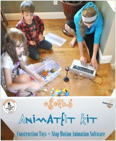 we LOVE this!! Stop Motion Animation Kit for Kids #STEAM #Gifts