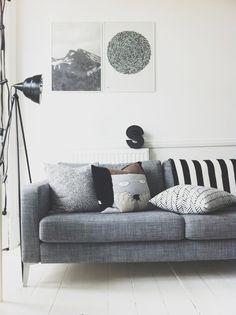 sofa gris | Estilo Escandinavo