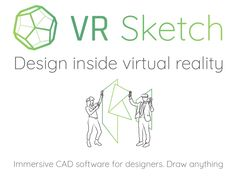 Draw anything with VR Sketch, immersive CAD software for designers. Sketch Design, App Design, Cad Software, Splash Screen, Modern Architects, Learning Resources, School Teacher, Design Process, Virtual Reality