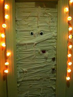 Halloween dorm door! Or front door, depending on your excitement level.