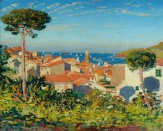The Town of Collioure - James Dickson Innes      1908