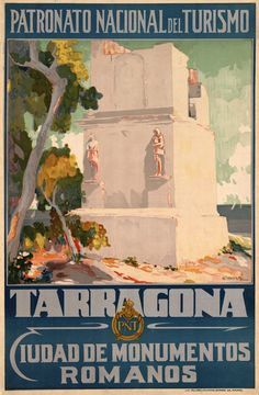 Vintage Travel Poster - Tarragona - City of Roman Monuments - Spain.