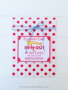 Simple Teacher Appreciation Gift with Free Printable Tag.