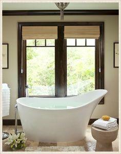 Martha O'Hara Interiors.  I want this Amalfi tub!  So perfect for soaking.