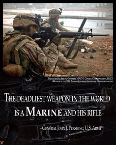 Marine and his rifle