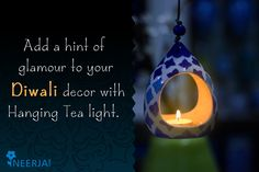 #hanging #tealight #diwali #decor #festivestyle  Add a hint of glamour to your Diwali décor with Neerja Blue Pottery Hanging Tea Light! Shop the collection now at https://www.neerja.com/category/hanging-tea-light-holders