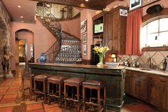 saltillo tile stairs | Cy-Fair Lifestyles & Homes magazine. » Bunker Hill Hacienda – A ...