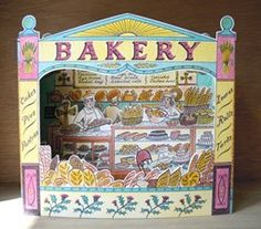 """""""Bakery"""" 3D card by Emily Sutton for Art Angels"""