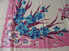 Gladioli's and vintage linens now that's bloomin' kitschy!