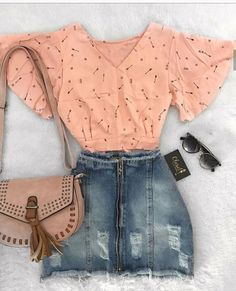 Pin di charlotte hall su clothes summer outfits, fashion out Teen Fashion Outfits, Girly Outfits, Skirt Outfits, Outfits For Teens, Stylish Outfits, Cool Outfits, Womens Fashion, Cute Summer Outfits, Spring Outfits