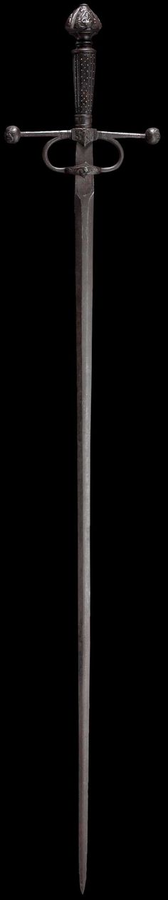 A heavy Italian small sword  circa 1560 .