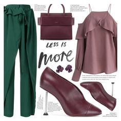 """""""Less is more"""" by puljarevic ❤ liked on Polyvore featuring STELLA McCARTNEY, Chicwish, Victoria Beckham, Givenchy, simple, GREEN, ruffle and lessismore"""