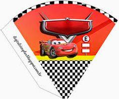 Αποτέλεσμα εικόνας για como hacer banderines de cars para imprimir