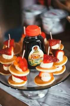 Boys Woodland Themed First Birthday party Food Pancake Brunch Ideas