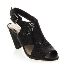 """Vince Camuto """"Ellezi"""" Laser-Cut Leather Sandal"""