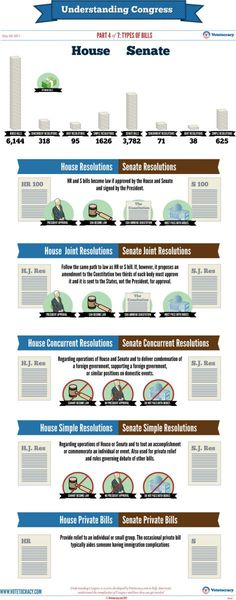 Understanding #Congress #Infographic Part 4 of 7: Types of #Bills   Votetocracy  #education #teach #history