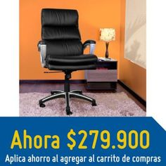 VD SILLA ESCRITORIO PRESIDENTE  66x78x11 - Homecenter.com.co