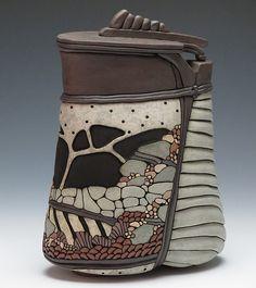 Hand Built Pottery, Pottery Art, Coffee Jars, Jar Art, Ceramic Techniques, Contemporary Ceramics, Clay Pots, Clay Creations, Ceramic Art