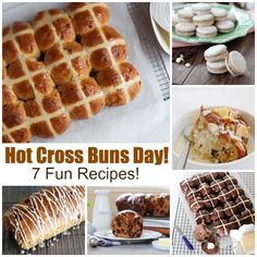 """7 fun hot cross bun recipes!  Lots of great stuff on this site! (Apology to neighbors for having to hear """"Hot Cross Buns"""" as Will learns the trumpet!)"""