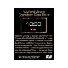 VJWorld Visuals: Countdown Clock Timer (dvd_video)