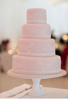 Pink Wedding Inspiration   Cake