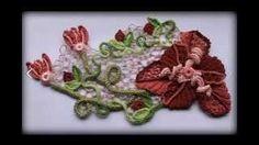 Элемент для ирландского кружева.Crochet flower pattern.Irish lace. encaje irlands Irish lace. Уроки вязания на видео