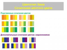 Сочетания цветов в одежде.Цветотип Зима.Фото.Таблица.