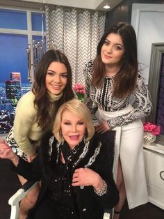 Kendell and Kylie Jenner with Joan Rivers