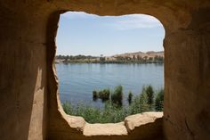 At the quarries of Gebel Silsila, where billions of tons of sandstone were carved for ancient temples, shrines and tombs are carved into the rock, with windows where a wandering soul can look out across the Nile.