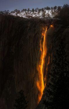 ~~The Phenomenon | Horsetail Falls, Yosemite National Park, California | by Sapna Reddy Photography~~