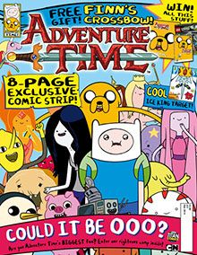 Adventure Time Magazine Subscription Adventure Time magazine, packed with a selection of the most awesome comic stories from the Land of Ooo, hilarious features on all your favourite characters, from Jake and Finn to the Ice King, LPS and Marceline, totally mathematical puzzles and activities, and your ultimate guide to the Land of Ooo. Plus lumpin' cool posters, and a freakin' fabulous free gift!