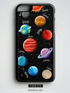 Space iPhone 6 Case Solar System iPhone 5s Case Science by zoobizu