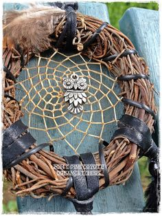 Owl Nature Twig Wreath Dreamcatcher by PinkCoyoteDreams on Etsy