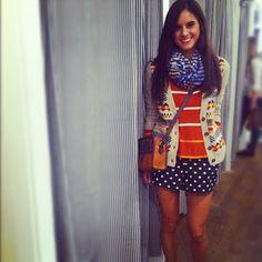 Little winnner! @chaneldror Pattern on pattern... I ain't scurred! #mixwellwithfab  Lovin the outfit!