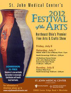 ST. JOHN MEDICAL CENTER FESTIVAL OF THE ARTS 2012 ~ July 6 - July 8, 2012~ Westlake, Ohio