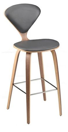Satine Counter Stool, Gray Leather $445.00