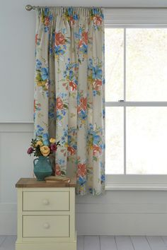 Buy Brights Floral Print Pencil Pleat Curtains from the Next UK online shop