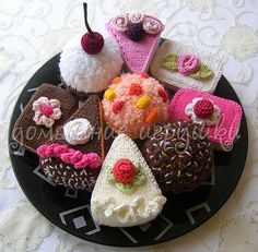 knitted cakes | Olga | Flickr