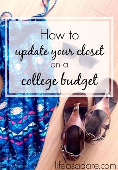 Living on a college budget can be hard, but there are definitely a few things you can do to update your wardrobe even on a college budget!