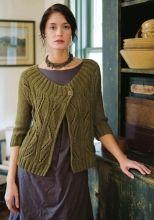 Cosima | Berroco.. free pattern with a deep cut ribbed yoke and easy diagonal lattice stitch. In chunky yarn