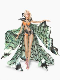 Catch Gigi Hadid fluttering down the runway in the 2015 Victoria's Secret Fashion Show, in this look from the Exotic Butterflies theme.