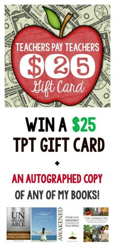 A giveaway for Teacher Appreciation Week: win an autographed book + a $25 TpT gift card. Plus EVERYONE gets a free download of a fun hands-on learning activity called Puzzle Strips!