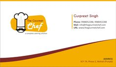 Gourmet Chef Business Card Design